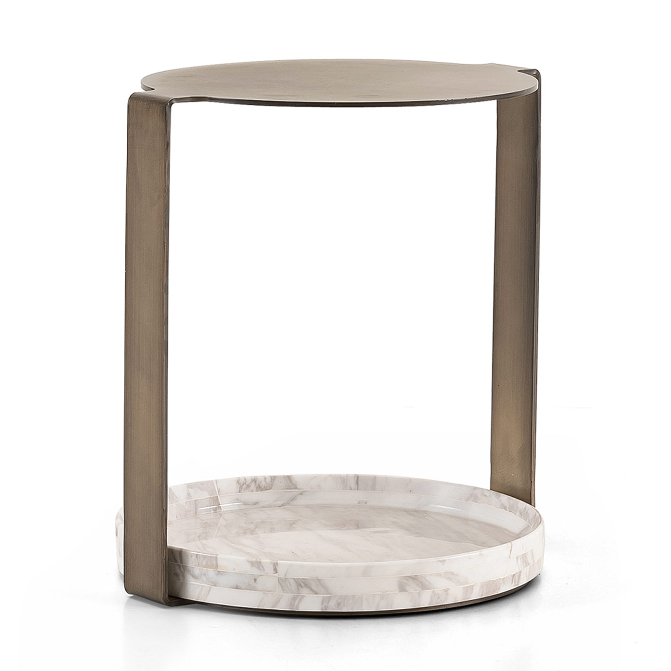 Wish Side Table Marble Rose Gold Casa Lusso Furniture Uae